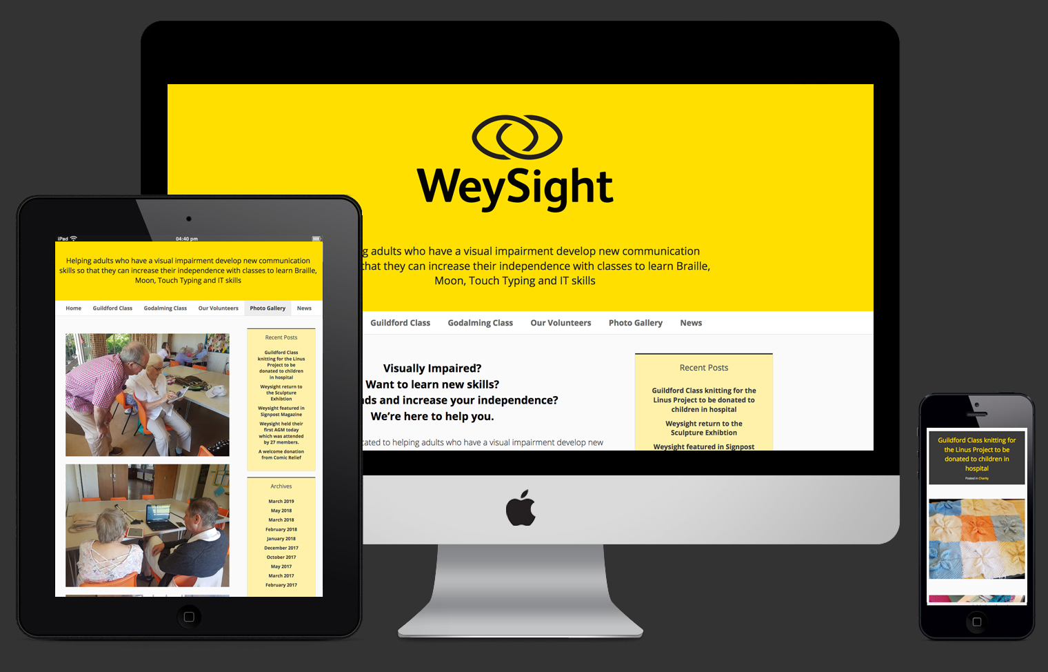 WeySight website design