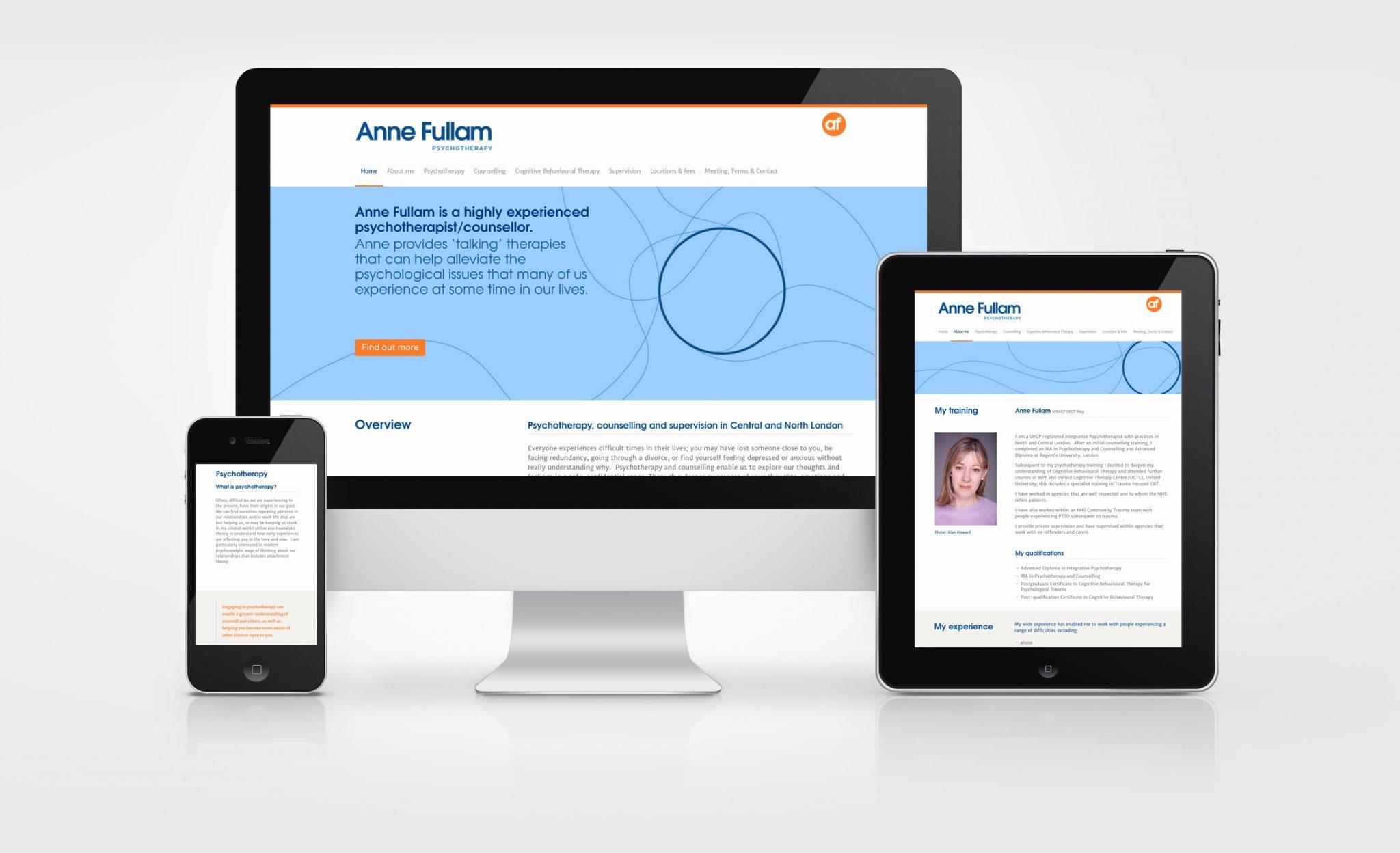 anne fulham website design