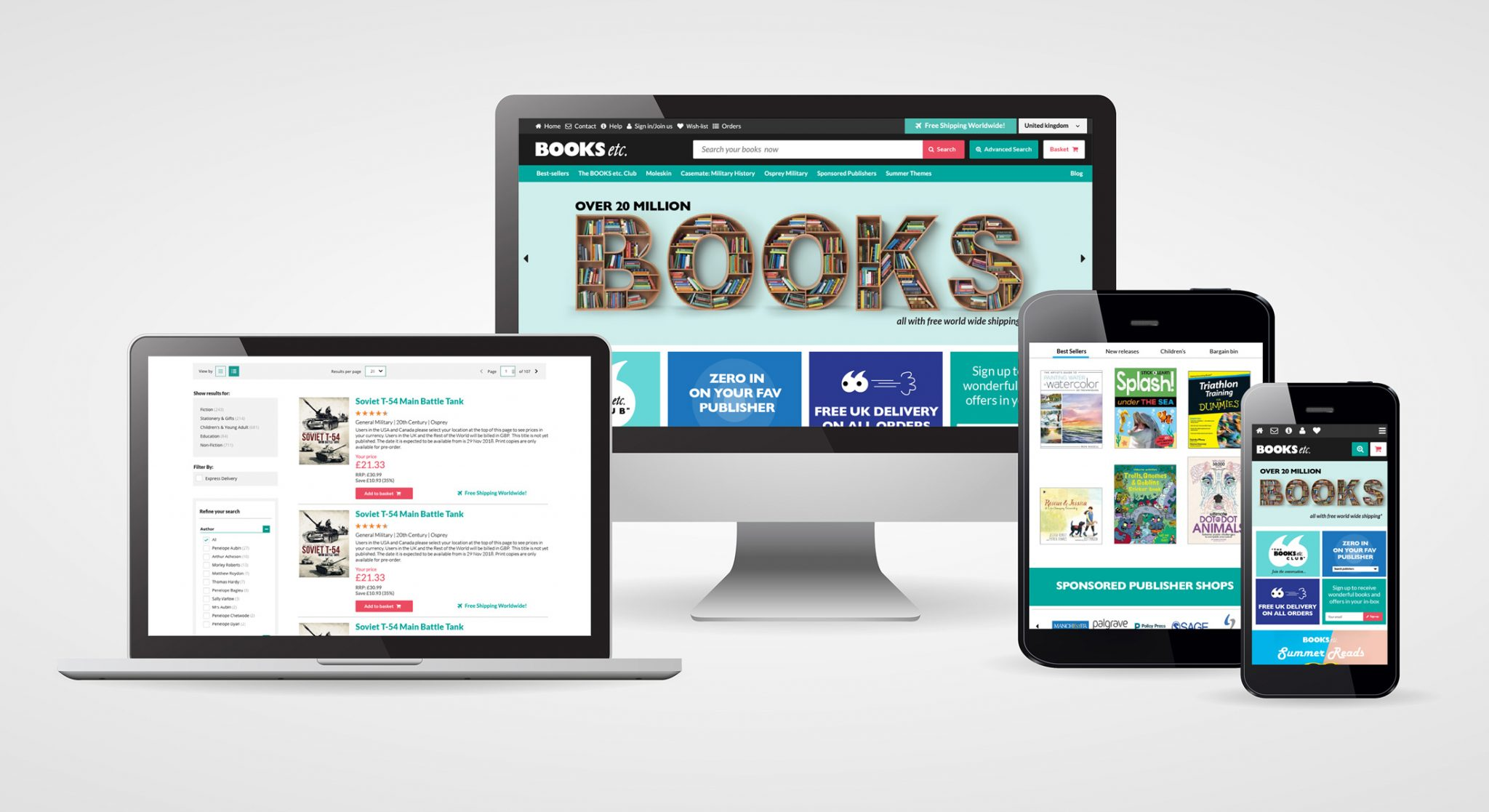 Books etc. website design