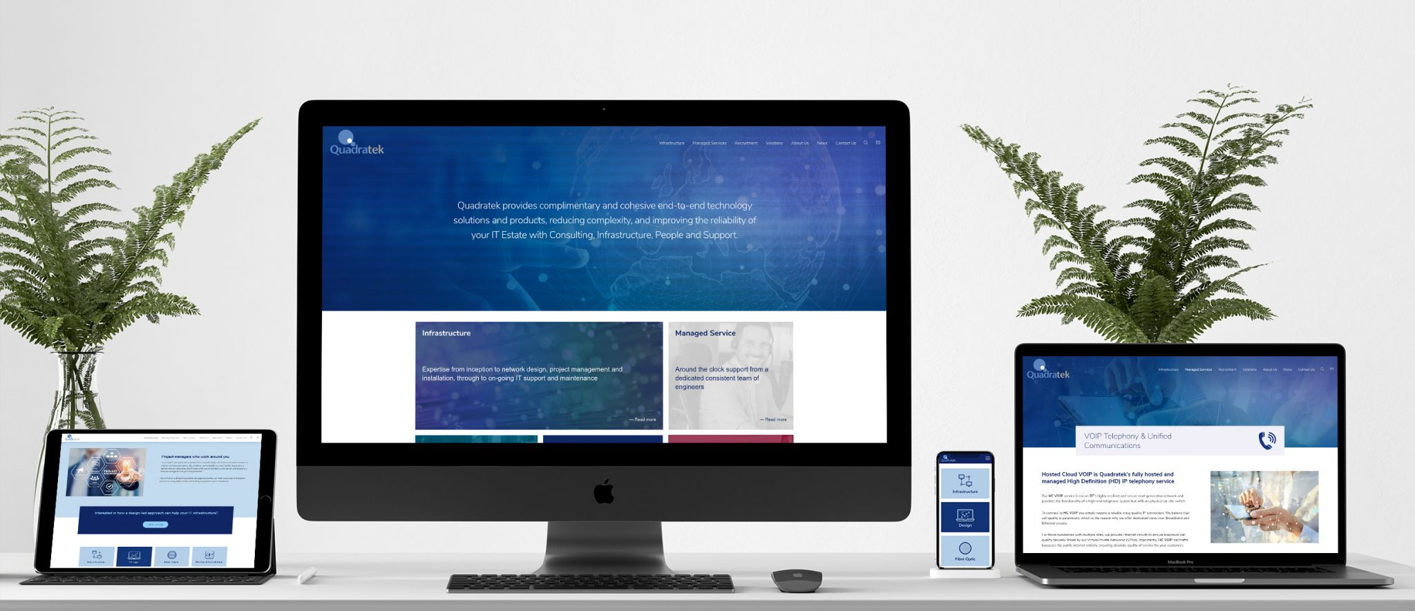 Quadratek website design & build
