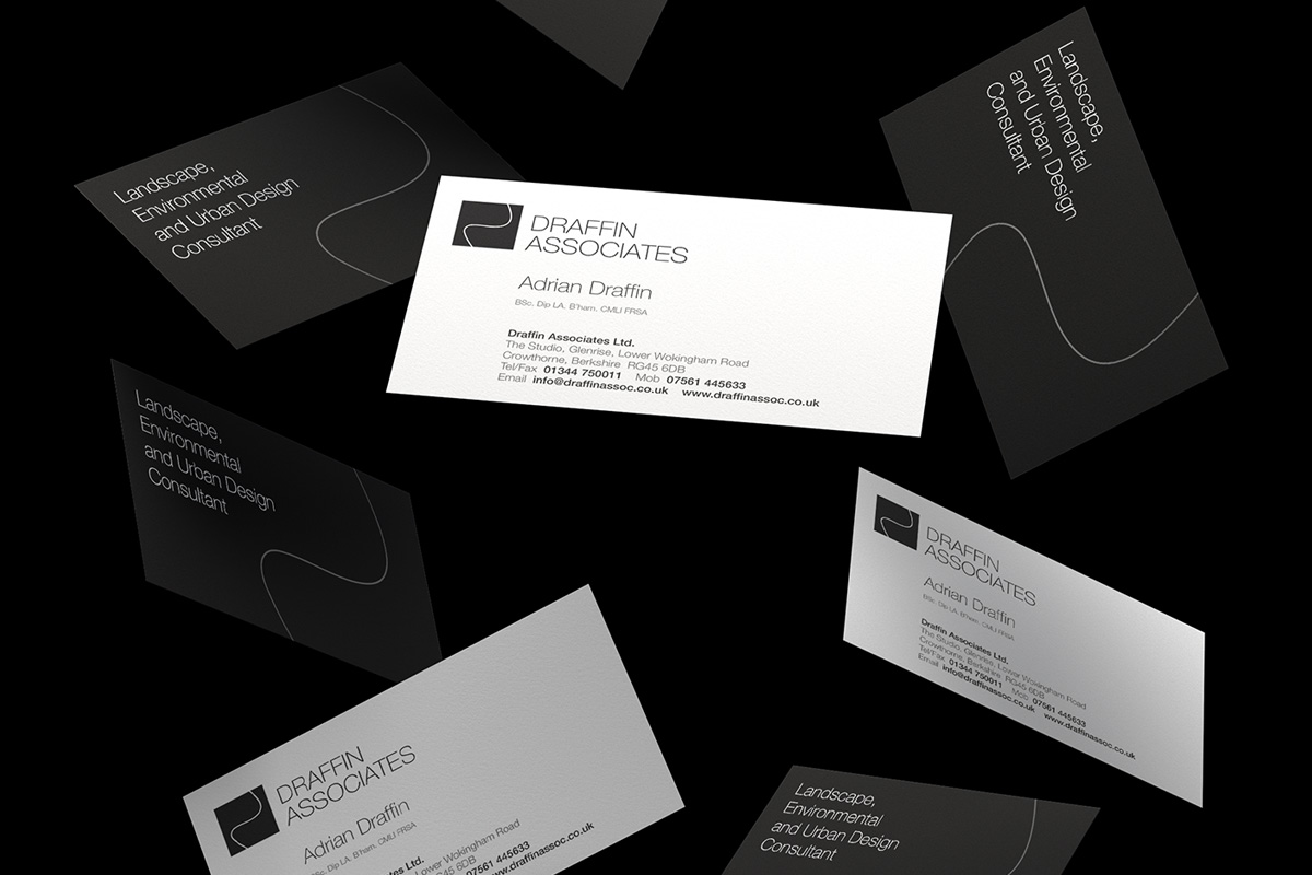 Draffin business card design