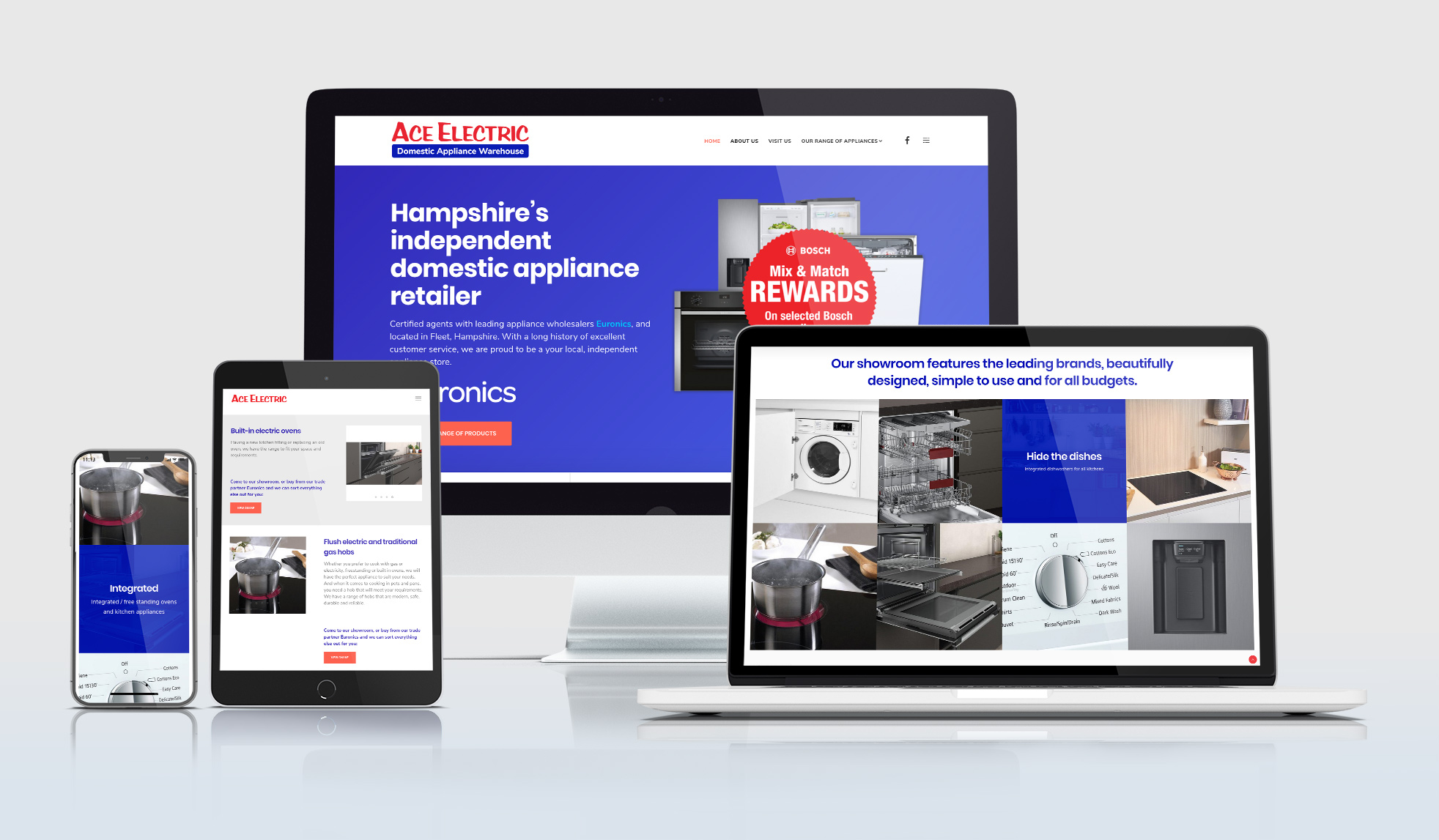 Ace Electric Domestic Appliances website design