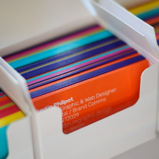Pure Graphic Design foil block business cards