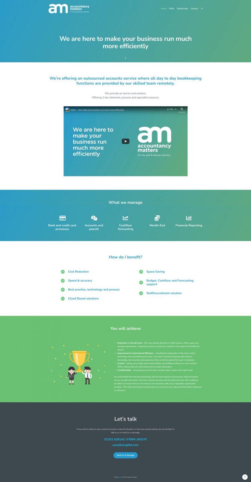 Accountancy Matters website design